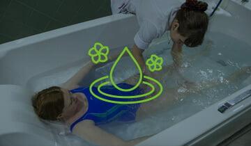 ПФМ (подводный физиотерапевтический массаж) на радоновой\пресной воде